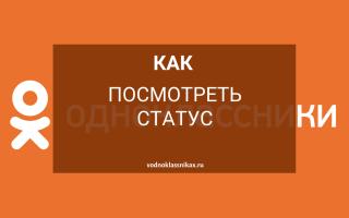 Как узнать статус в Одноклассниках